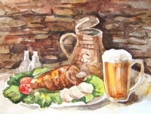 Пиво и мясо
