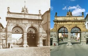 Ворота в Пльзеньский Праздрой тогда и сейчас